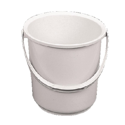Seau en plastique Jantex blanc 10L