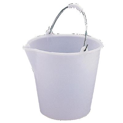 Seau en plastique très résistant Jantex blanc 12L