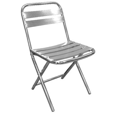 Chaises pliantes en aluminium par 4