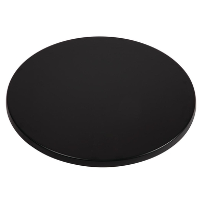 Plateau de table rond Werzalit noir 600mm
