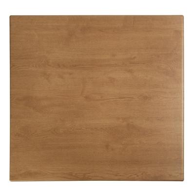 Plateau de table carré Werzalit imitation chêne 700mm