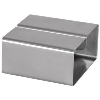 Porte-menu inox carré