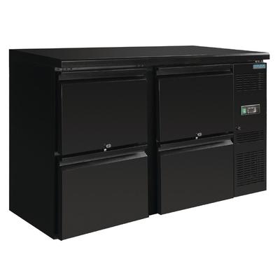 Arrière-bar noir 4 tiroirs 349L