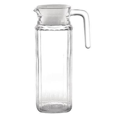 Pichet rainuré en verre par 6