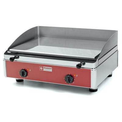 Plaque de cuisson lisse, chromée, électrique 608x530