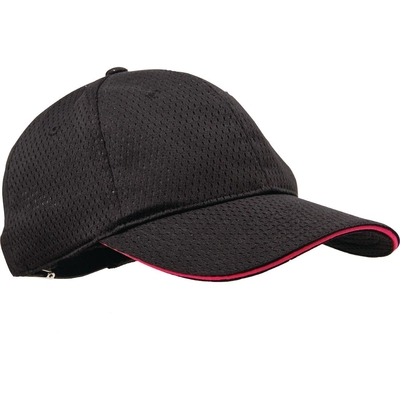 Casquette baseball Cool Vent Colour by Chef Works noire et rose