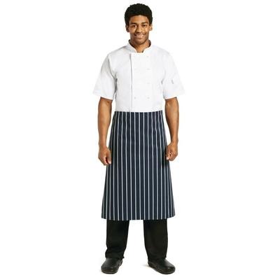 Tablier de cuisine rayé bleu et blanc