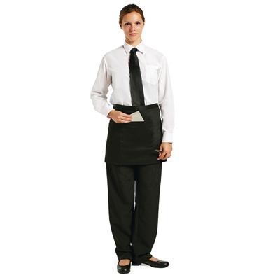 Tablier bistro court Uniform Works noir