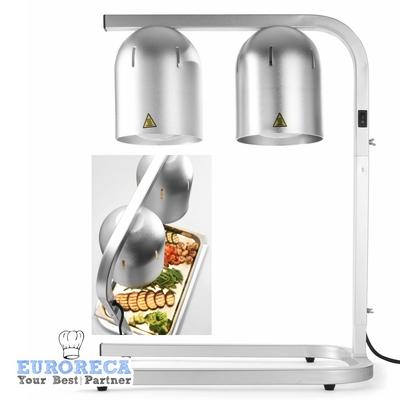 Portique chauffe-plat avec 2 lampes infrarouges  490x350