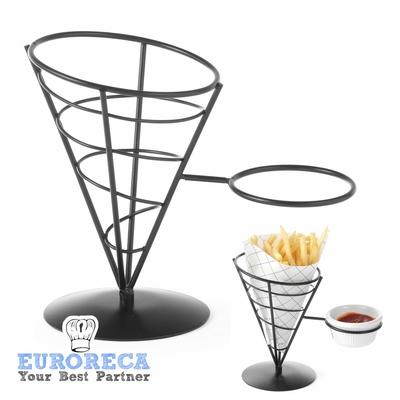 Support pour cornet de frites avec emplacement sauce par 4