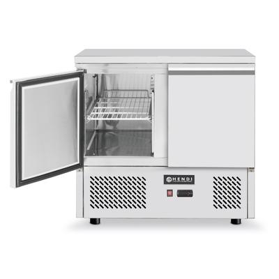 Réfrigérateur comptoir inox avec deux portes