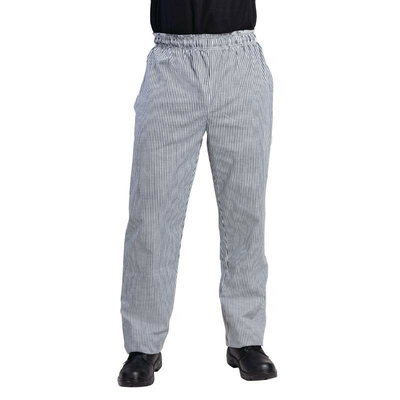 Pantalon de cuisinier unisexe petits carreaux noirs et blancs