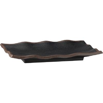 Plat ondulé noir en mélamine APS Marone 225 x 150mm