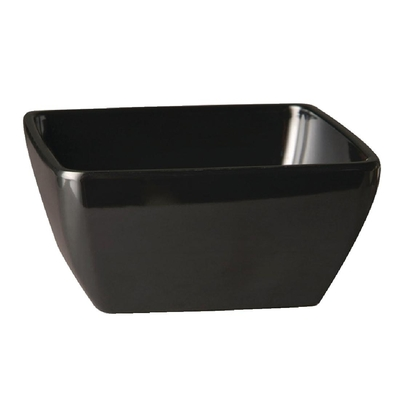Bol carré en mélamine APS Pure noir 90mm