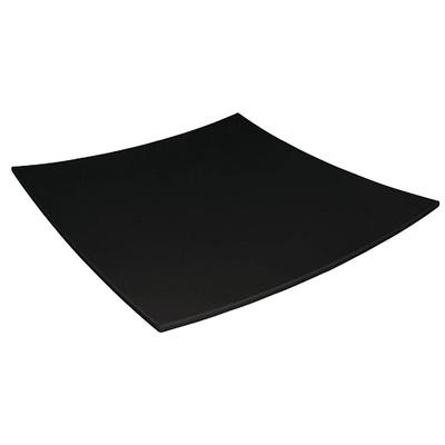 Assiette carrée incurvée Kristallon mélamine noire 300mm