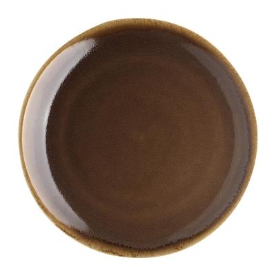 Assiette plate ronde couleur écorce Kiln Olympia 230mm lot de 6