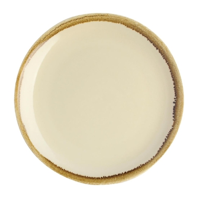 Assiette plate ronde couleur sable Kiln Olympia 230mm lot de 6