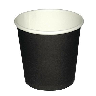 Gobelets jetables à café espresso Fiesta noirs 112ml x1000