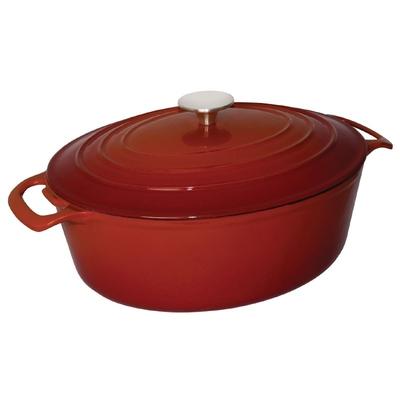 Grande cocotte ovale rouge 6L