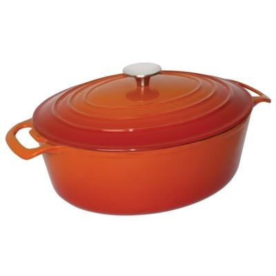 Grande cocotte ovale orange 6L