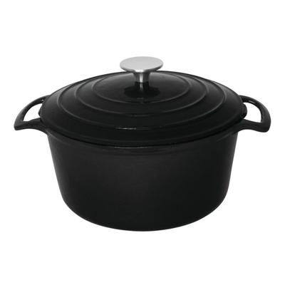 Grande cocotte ronde noire 4L