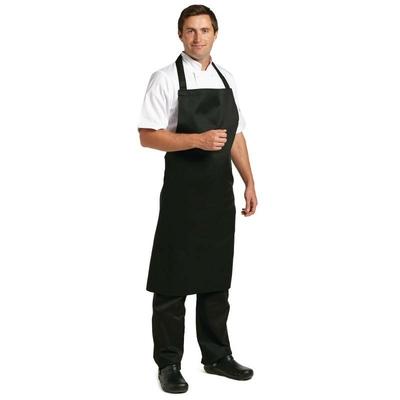 Tablier à bavette Whites polyester-coton noir XL