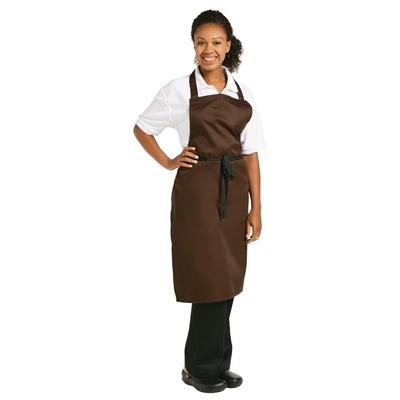 Tablier à bavette Whites polyester-coton chocolat
