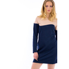 RB-0004-robe-bi-color-bleu-marine-et-beige-1
