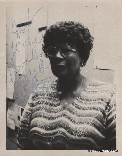 Ella FITZGERALD - Photographie grand format dédicacée et signée