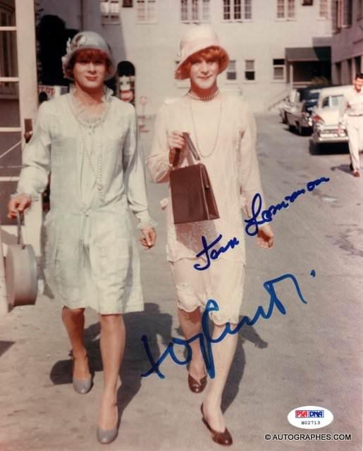 Tony CURTIS et Jack LEMMON - Photographie grand format signée (Certains l\'aiment chaud)