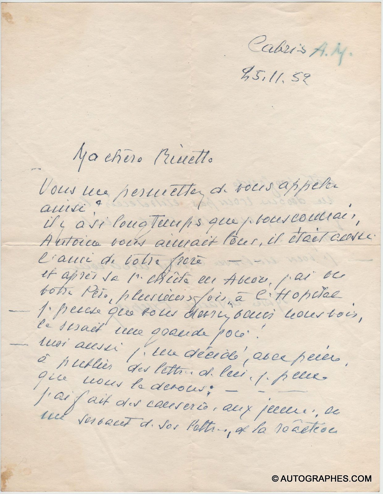 lettre-autographe-signee-marie-de-saint-exupery-antoine-de-saint-exupery-1