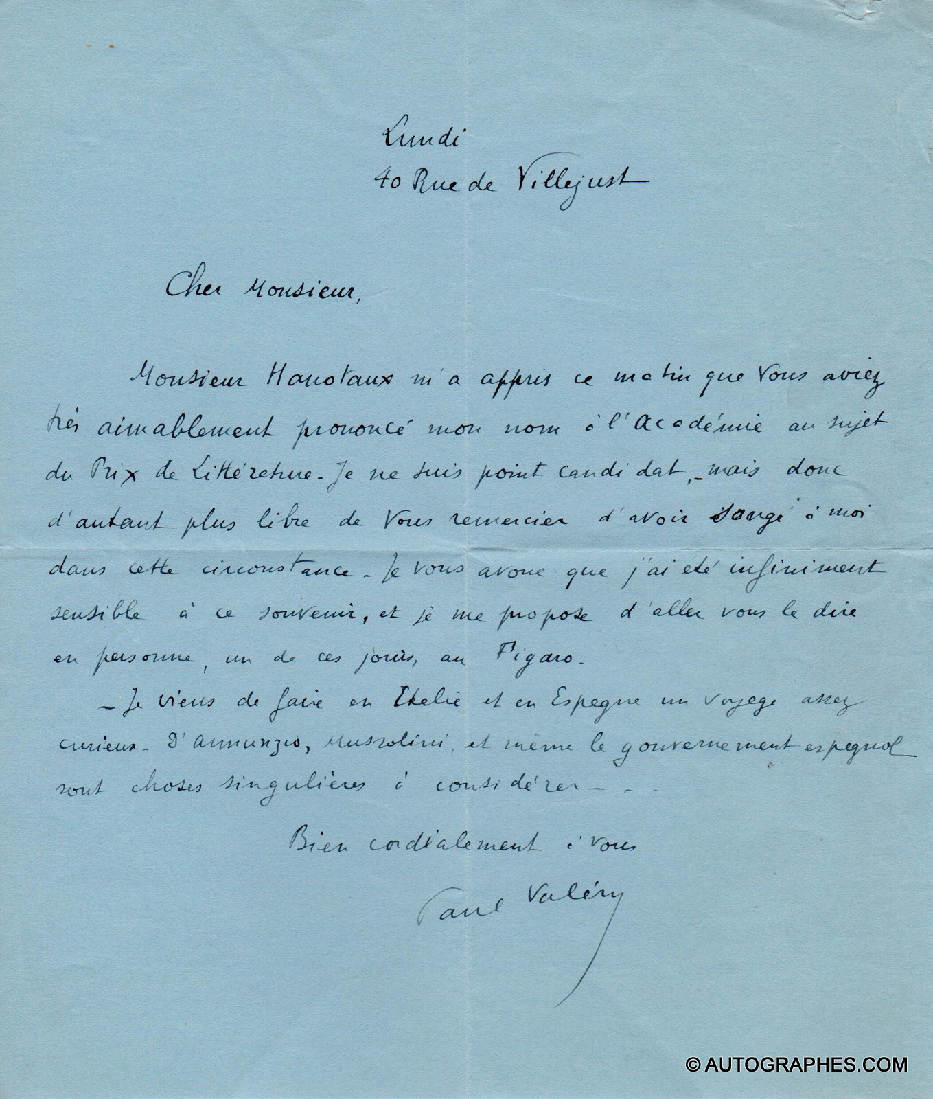 lettre-autographe-signee-paul-valery-d-annunzio-mussolini