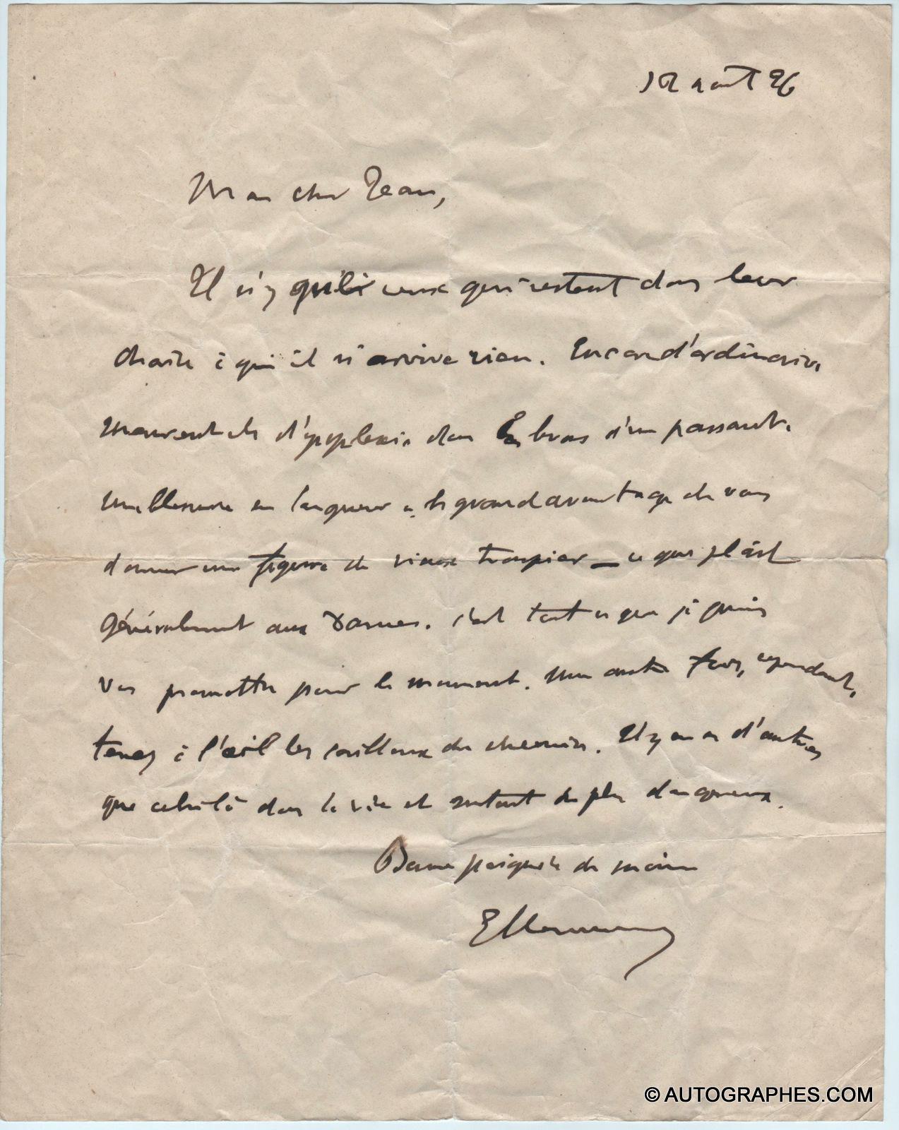 lettre-autographe-signee-georges-clemenceau-a-jean-baldensperger-1926