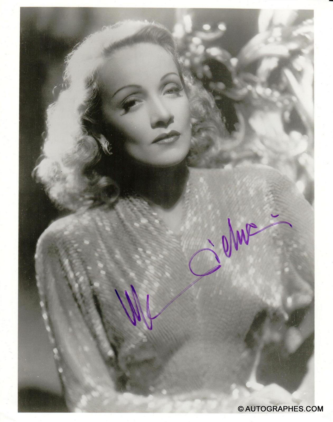 Marlene DIETRICH - Photographie grand format signée par l\'actrice