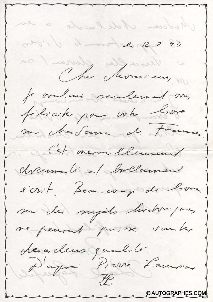 lettre-autographe-signee-karl-lagerfeld-1990-a