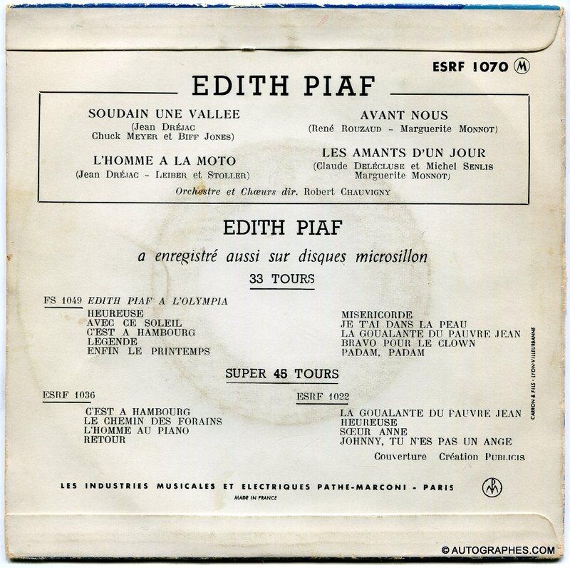 signature-autographe-edith-piaf-sur pochette-disque-super-45-tours-l-homme-a-la-moto-2