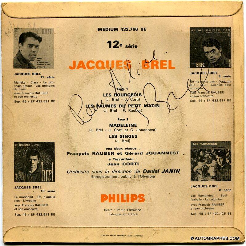 dedicace-autographe-signee-jacques-brel-les-bourgeois-madeleine-disque-super-45-tours-philips-1