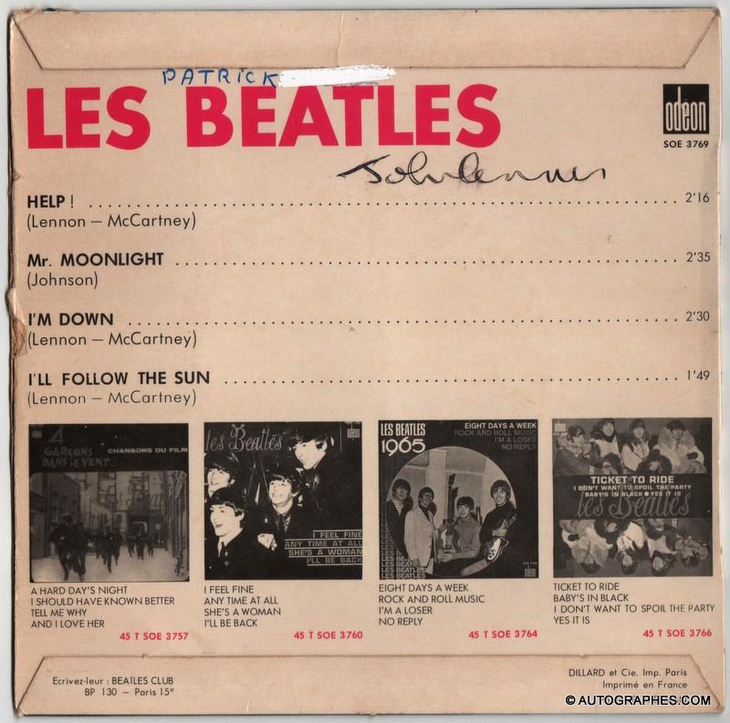 signature-autographe-john-lennon-pochette-super-45-tours-help!-Beatles-2