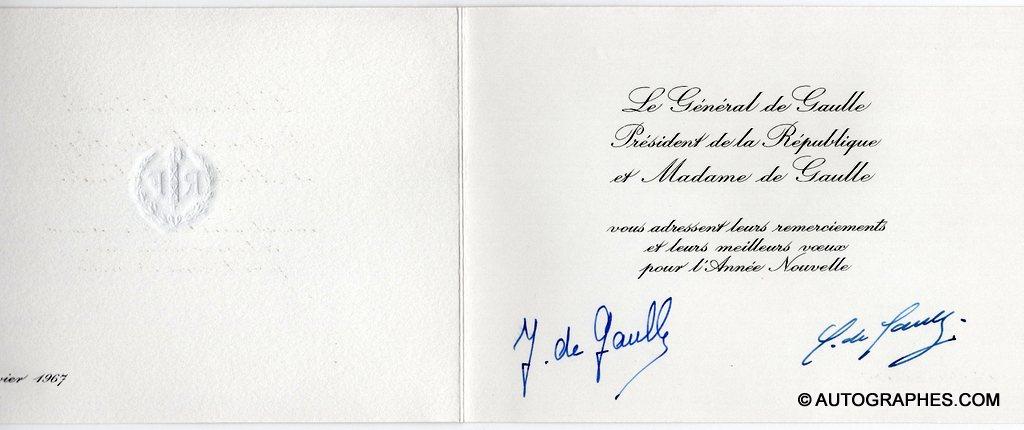 carte-de-voeux-signature-autographe- charles-de-gaulle-et-yvonne-de-gaulle-2