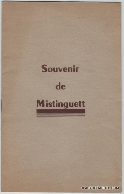 MISTINGUETT - Livret dédicacé et signé