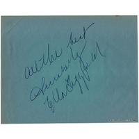 Ella FITZGERALD et Leon SPINKS - Très grandes signatures autographes