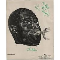 Louis ARMSTRONG - Photographie grand format dédicacée et signée