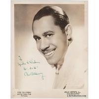 Cab CALLOWAY - Photographie grand format dédicacée et signée