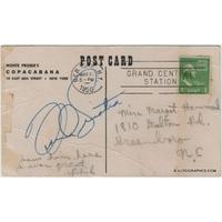 Frank SINATRA - Carte postale avec signature autographe (Copacabana Club / 1950)