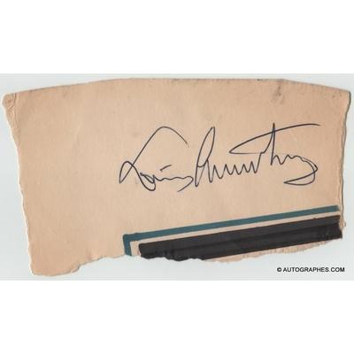 Louis ARMSTRONG - Signature autographe