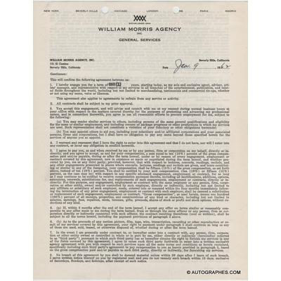 Glenn FORD - Contrat signé (1962)