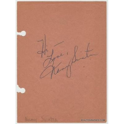 Nancy SINATRA et Lola FALANA - Signatures autographes