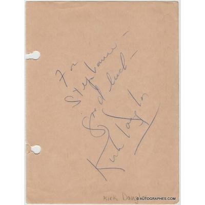 Kirk DOUGLAS - Signature autographe