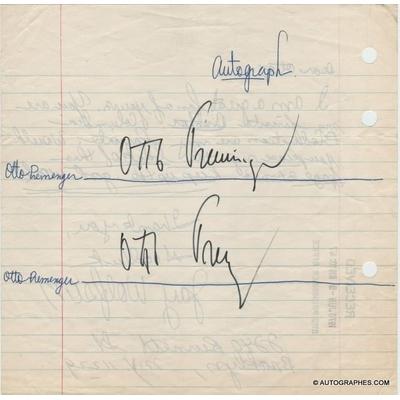 Otto PREMINGER - Signatures autographes (Otto Preminger Office / 1970)