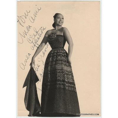 Joséphine BAKER - Photographie grand format dédicacée et signée (1954)